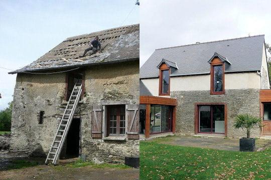 La grange ancienne de delphine et freddy votez pour - Grange renovee avant apres ...