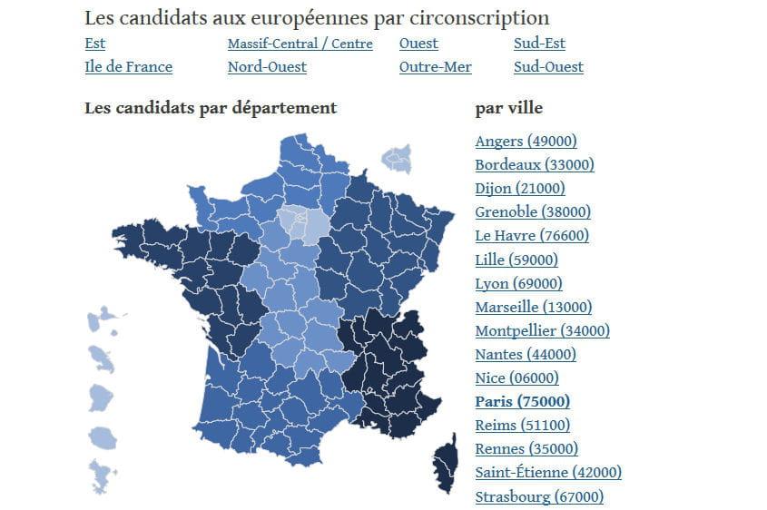 Resultat Vote France  Par Ville