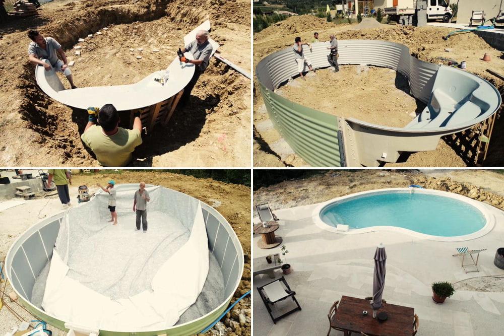 d couvrez comment monter une piscine en kit linternaute. Black Bedroom Furniture Sets. Home Design Ideas