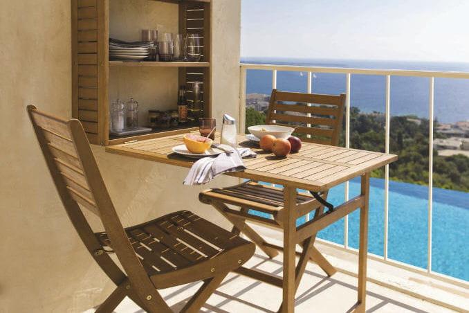 mobilier de balcon aland 25 id es d co pour le jardin ou. Black Bedroom Furniture Sets. Home Design Ideas
