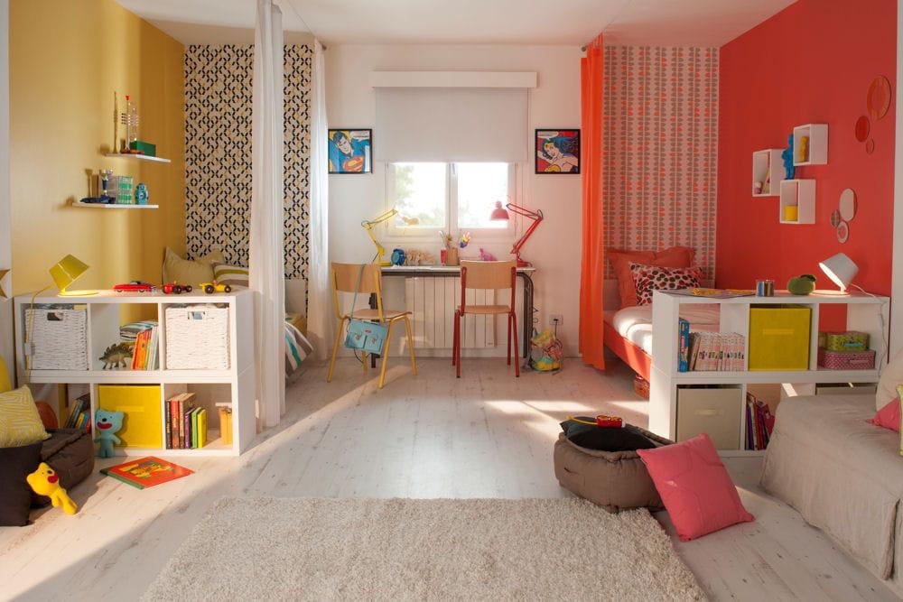 Deux ambiances pour une m me chambre - Partager une chambre en deux ...