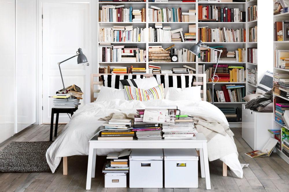 Une chambre avec biblioth que des id es d co pour la for Bibliotheque chambre