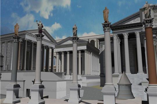 temples la rome antique reconstituee linternaute