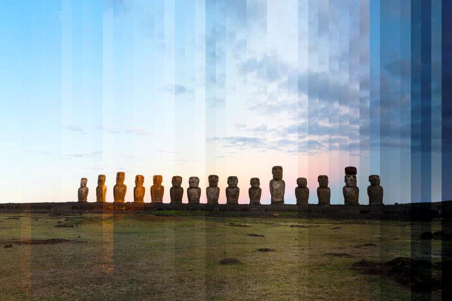 L 39 ahu tongariki jusqu 39 au coucher de soleil 24 heures en une seule photo - Heure coucher soleil nantes ...