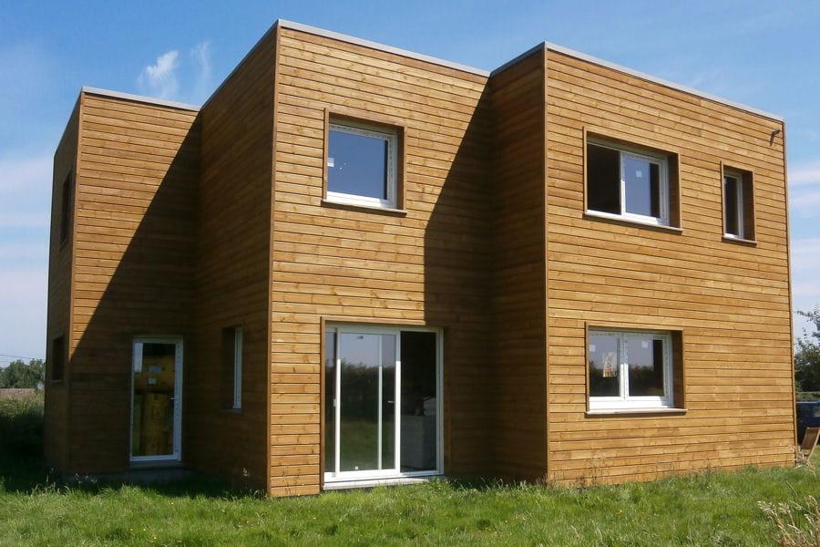 La fa ade en bois la maison en bois de pauline et for Facade en bois maison