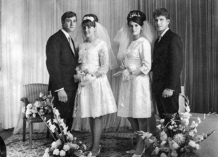 double mariage en 1966   les plus belles photos de mariage