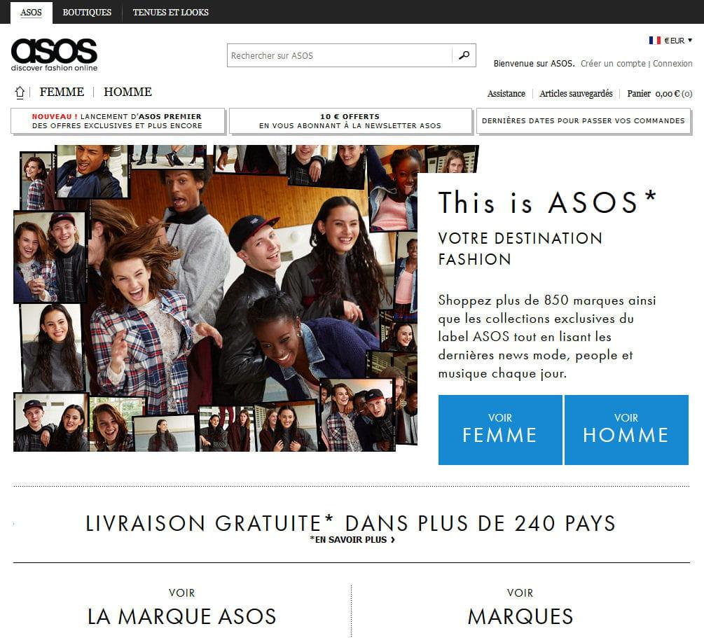 Asos meilleur site de mode quels sont les sites for Meilleur site de reservation hotel