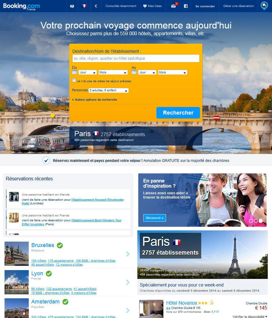 Booking meilleur site de r servation d 39 h tels et d for Le site booking