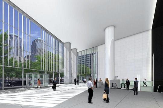 le hall d 39 entr e world trade center les projets linternaute. Black Bedroom Furniture Sets. Home Design Ideas