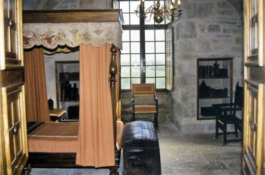 la chambre de la reine n'a pratiquement pas changé depuis le passage de