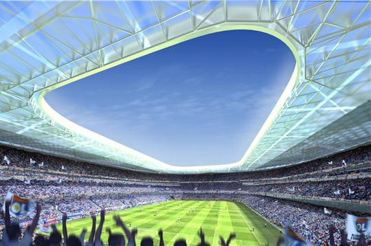 L 39 architecture du futur stade visitez ol land linternaute for Architecture du futur