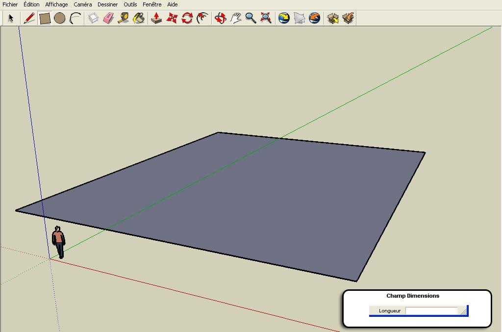Tracer la surface r aliser un plan en 3d avec google for Realiser un plan 3d