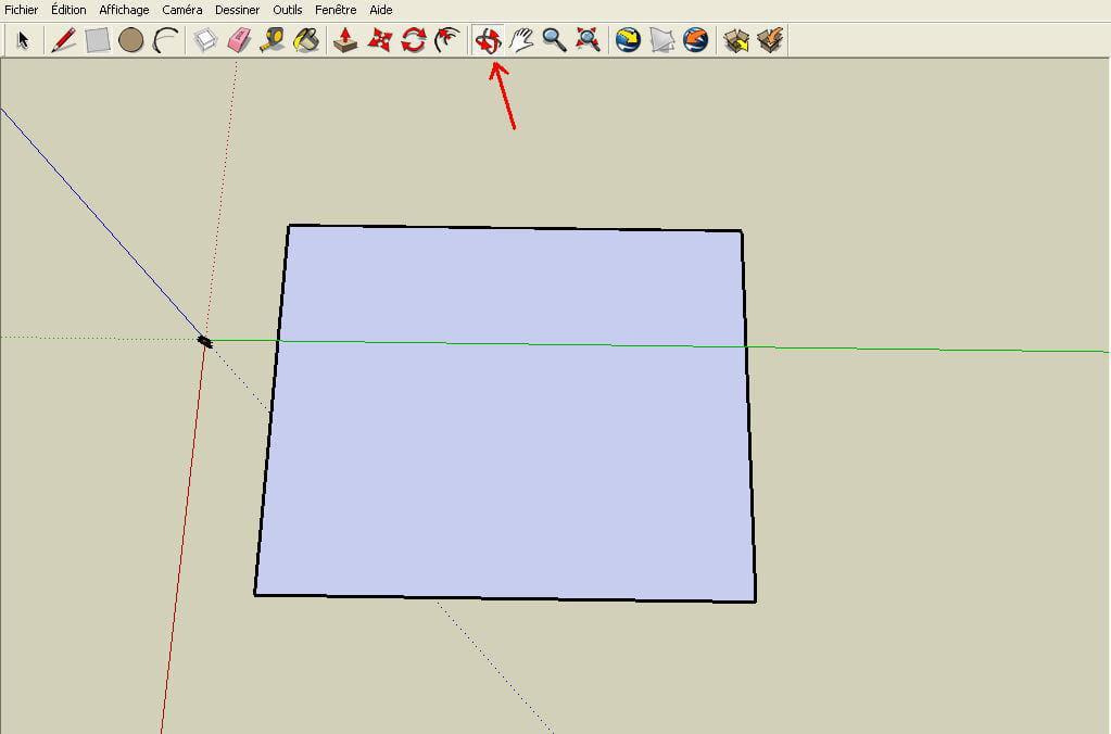 Les outils de vues r aliser un plan en 3d avec google for Outil miroir sketchup