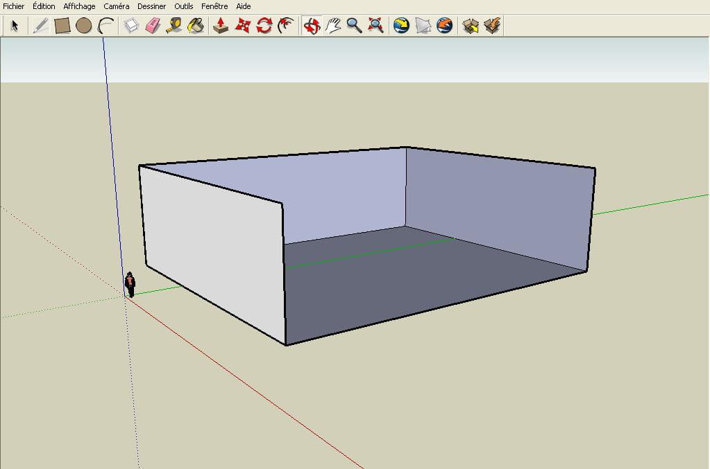 Vue de face r aliser un plan en 3d avec google sketchup for Realiser un plan 3d