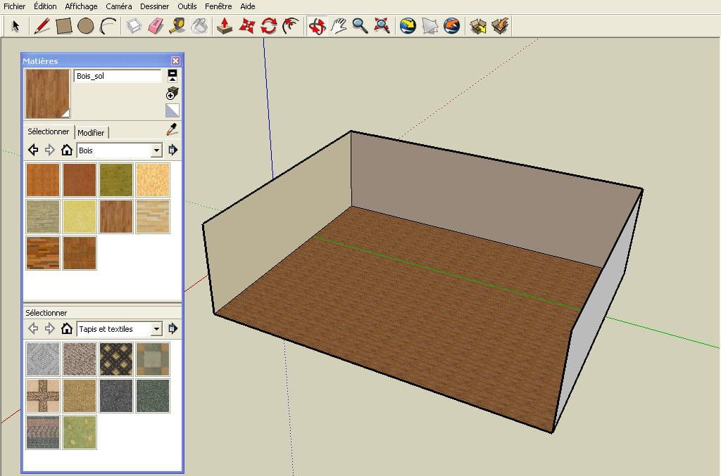 Ajouter de la texture r aliser un plan en 3d avec google for Cuisine 3d sketchup