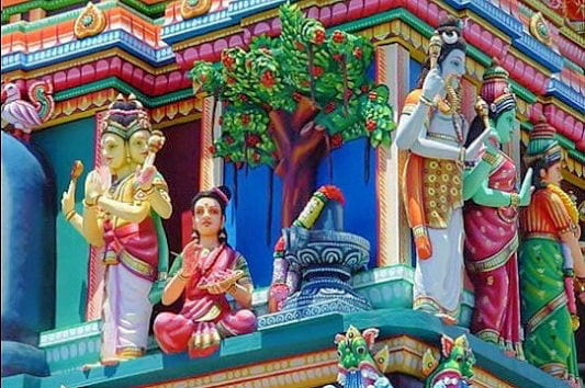 un temple hindou  u00e0 saint pierre   r u00e9union  l u0026 39  u00eele des