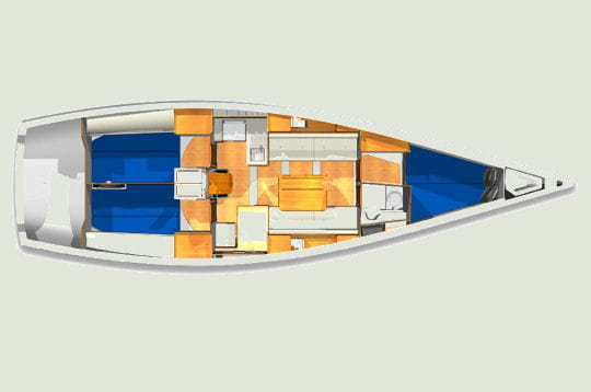 les caract ristiques du x 41 a chaque navigateur son x yacht linternaute. Black Bedroom Furniture Sets. Home Design Ideas