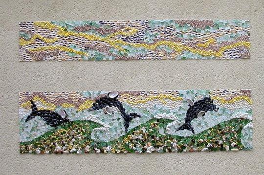 chaque année, le quartier de l'île penotte se pare de nouvelles fresques, les