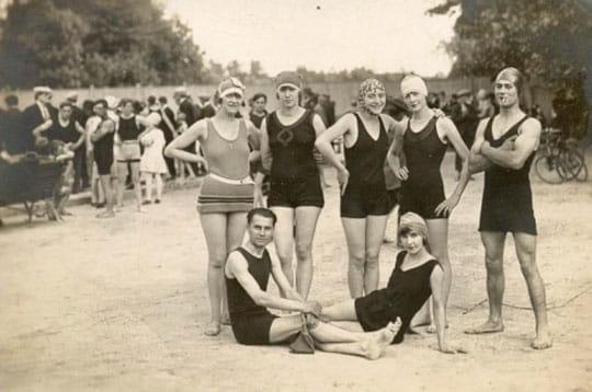 Baignade des ann es 30 le sport au temps du noir et blanc linternaute - Photos des annees 30 ...