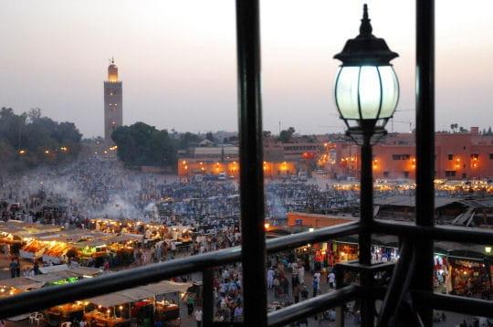 Balcon sur la placce Jamaa el Fna