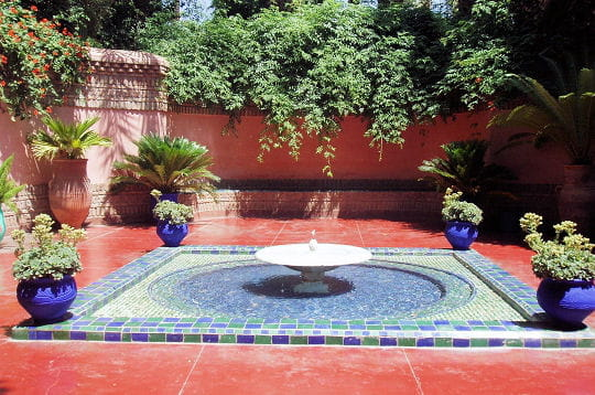 Fontaine du jardin Majorelle