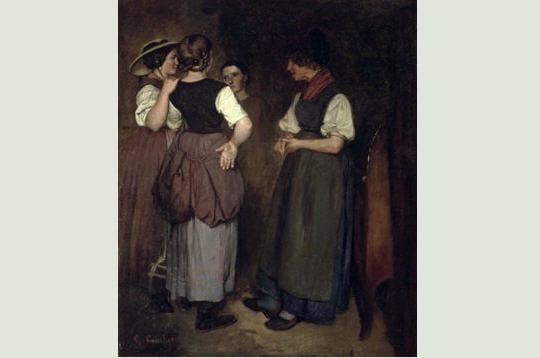 gustave courbet a puisé son inspiration auprès de ses sœurs. en grandissant