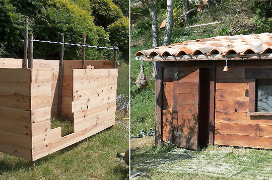Construire une cabane en bois s 39 envoler et ne plus penser for Construire une cabane a lapin exterieur