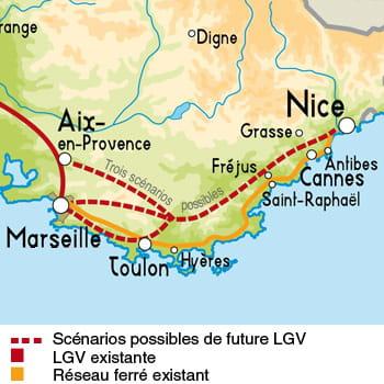 scénarios possibles pour la future lgv paca