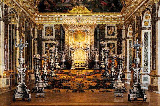 Art et culture le versailles d 39 argent du roi soleil frawsy for Les lions du meuble