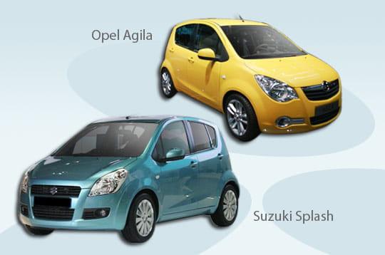 opel agila suzuki splash une m me voiture pour plusieurs marques linternaute. Black Bedroom Furniture Sets. Home Design Ideas