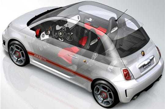Int rieur fiat 500 abarth les premi res images for Interieur 500 abarth