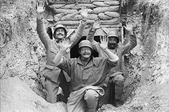 dans les tranchées, les moments de détente étaient rares. ici, des soldats