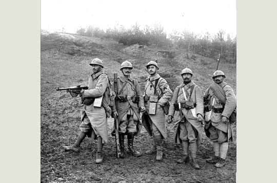 les poilus étaient en majorité des fantassins, les soldats d'infanterie de