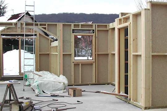 le rez de chauss e comment fr d ric a construit sa maison en bois linternaute. Black Bedroom Furniture Sets. Home Design Ideas
