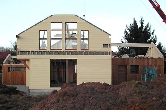 le pignon sud comment fr d ric a construit sa maison en bois linternaute. Black Bedroom Furniture Sets. Home Design Ideas