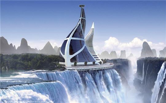 Future Architecture Ideas Chute d'eau...