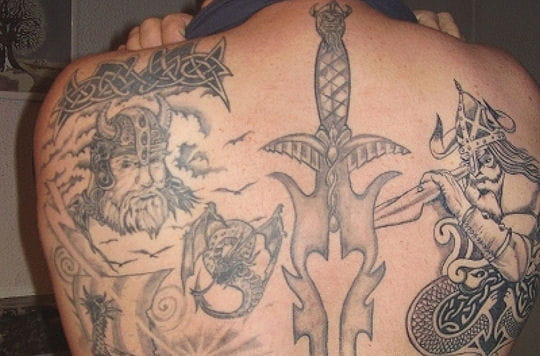 "Tatouage Viking. ""Les Vikings"""