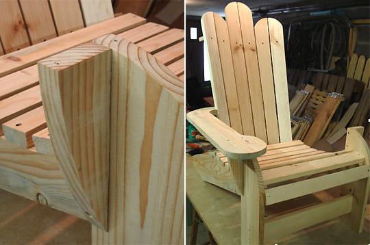 Les accoudoirs fabriquer un fauteuil en bois linternaute - Fabriquer un fauteuil en palette ...