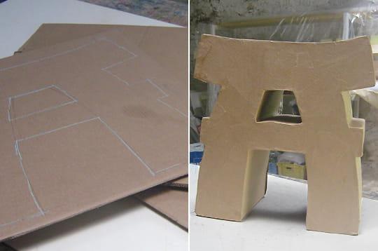 fabriquer un tabouret en carton linternaute. Black Bedroom Furniture Sets. Home Design Ideas