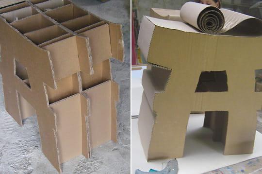 monter le meuble fabriquer un tabouret en carton linternaute. Black Bedroom Furniture Sets. Home Design Ideas