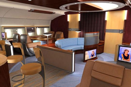 un salon de d tente d mesur jets priv s embarquez. Black Bedroom Furniture Sets. Home Design Ideas