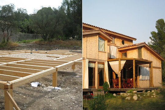 Comment pascal a construit sa maison bioclimatique en bois for Construction maison bioclimatique