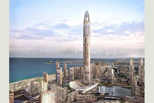 le record du monde de hauteur pour un gratte-ciel, 800mètres pour burj
