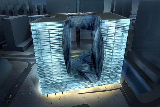 un cube de verre trou en son milieu les 50 projets fous de dubai linternaute. Black Bedroom Furniture Sets. Home Design Ideas