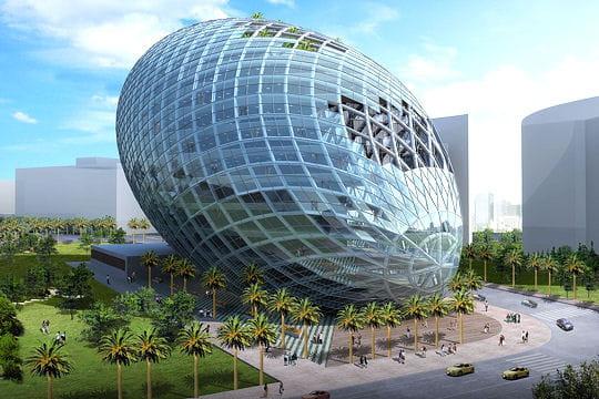 Un uf futuriste en inde b timents verts les for Architecture futuriste ecologique
