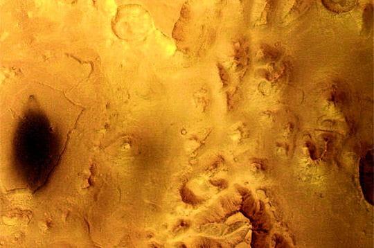 Vallées sur Mars