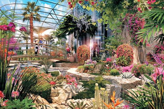 fleurs tropicales et jardins int rieurs paquebots les villes flottantes du futur linternaute. Black Bedroom Furniture Sets. Home Design Ideas