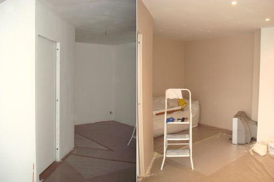la peinture du s jour comment matthieu a r nov son appartement linternaute. Black Bedroom Furniture Sets. Home Design Ideas