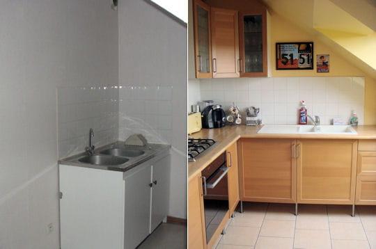 la cuisine avant et apr s comment matthieu a r nov son. Black Bedroom Furniture Sets. Home Design Ideas