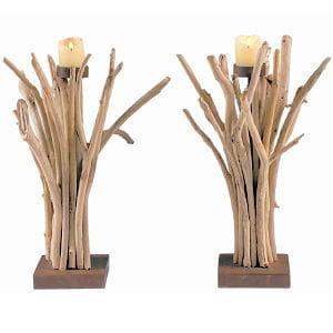 Bougeoir en bois flott le coup de coeur de la semaine for Bougeoire en bois flotte